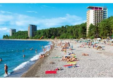 Собственный пляж| Пансионат «ОПК Пицунда »| Абхазия, Пицунда